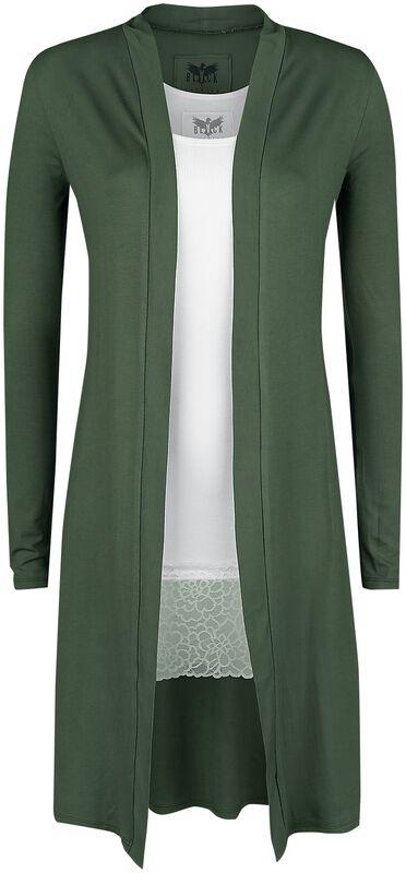 langer oliver Cardigan und weißes Top Black Premium