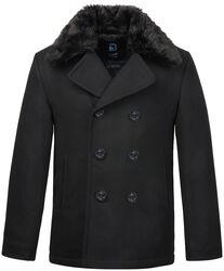 Pea Coat Fur Collar