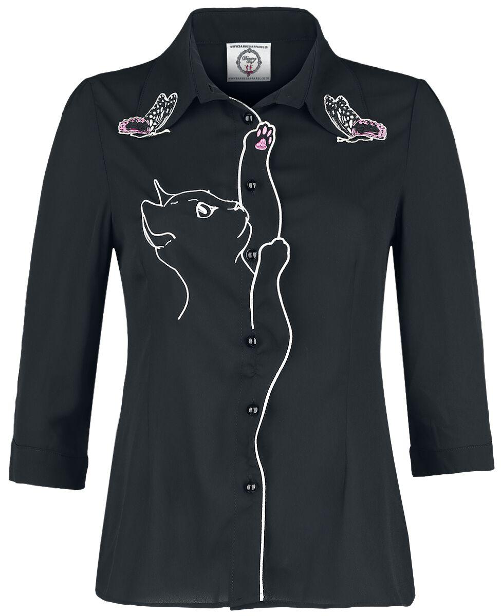 Image of Dancing Days Snow Bird Shirt Bluse schwarz