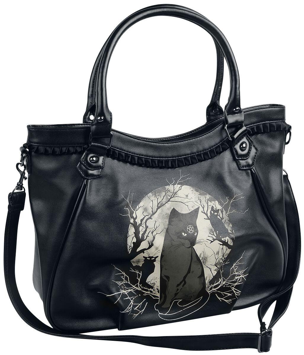 Banned Alternative Hecate In Full Moon Handtasche schwarz weiß BG7188