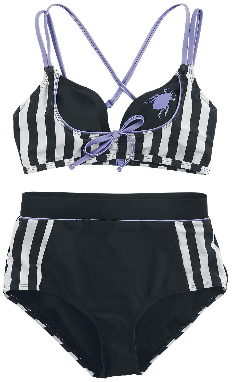 Beetlejuice Beetle Bikini-Set schwarz weiß M424563