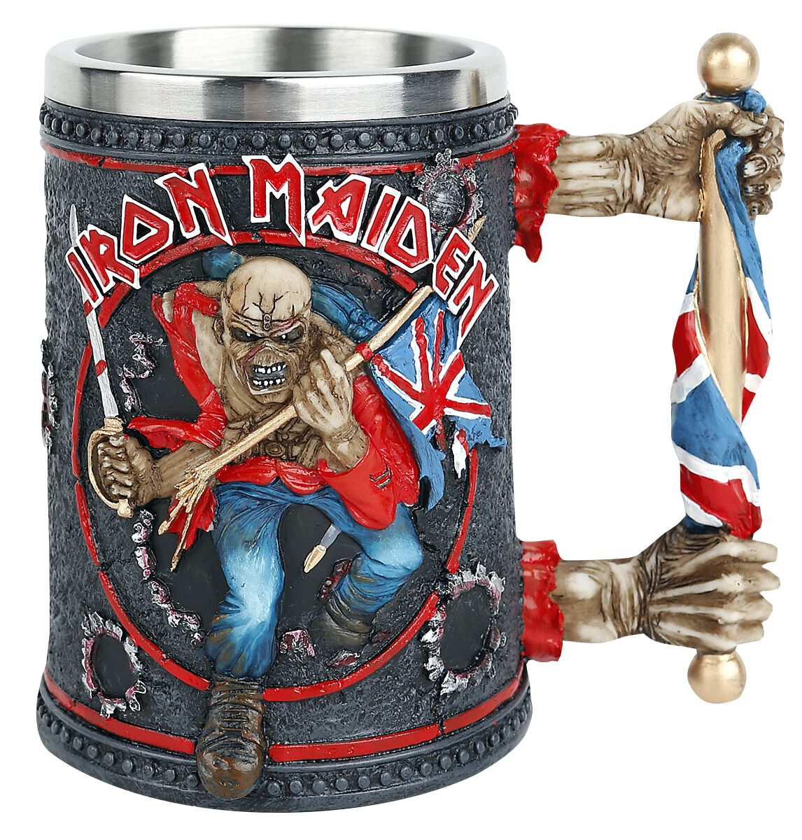 Image of Iron Maiden Trooper Tankard Bierkrug multicolor