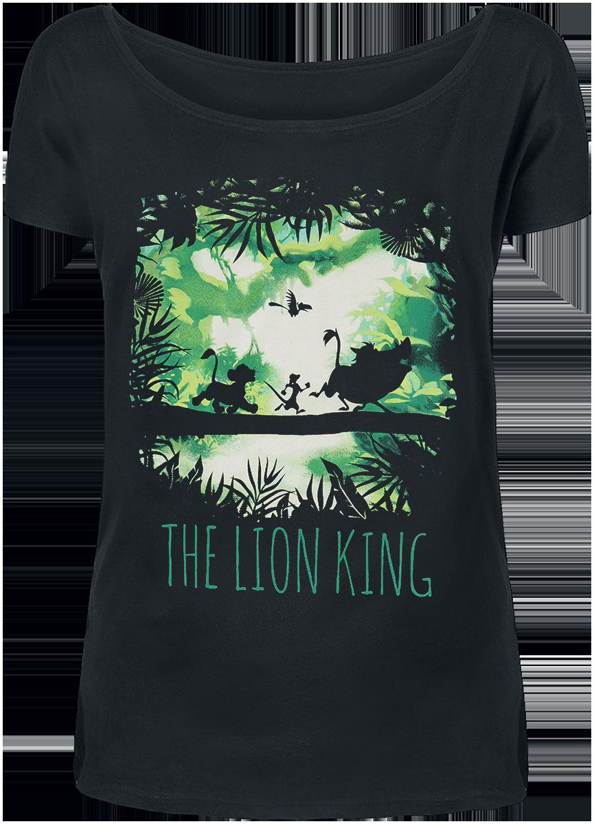 The Lion King - Walking Through The Jungle - Girls shirt - black image