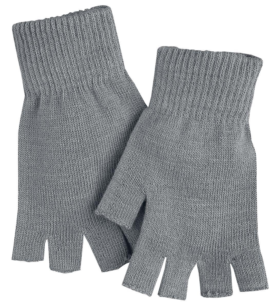 Handschuhe - Black Premium by EMP Hands Up Kurzfingerhandschuhe grau  - Onlineshop EMP