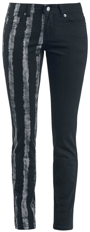 Hosen für Frauen - Forplay Striped Leg Stretch Denim Jeans schwarz  - Onlineshop EMP