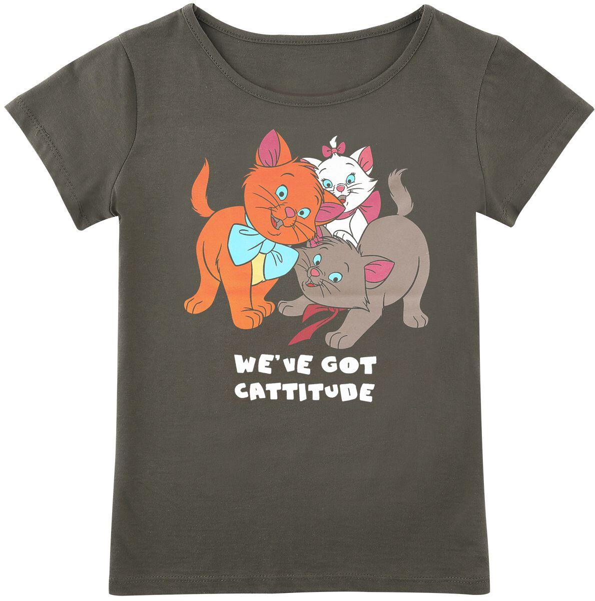 Image of Aristocats Cattitude Kinder-Shirt khaki