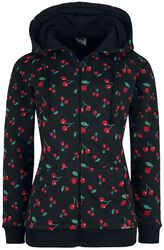 Cherries Hooded Zip-Jacket
