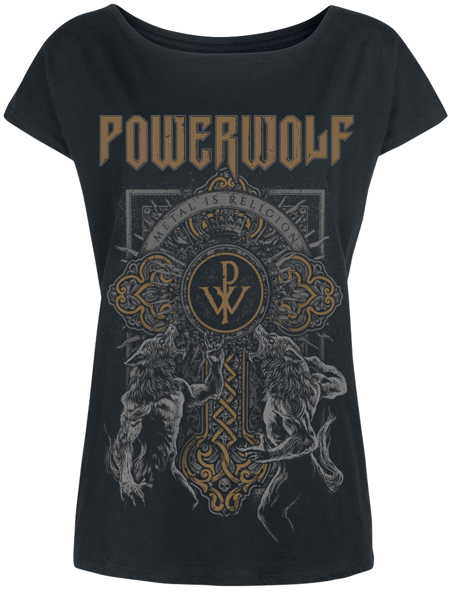 Powerwolf - Wolf Cross - Girls shirt - black image
