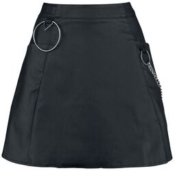 Gored Skirt With O-Ring Detail
