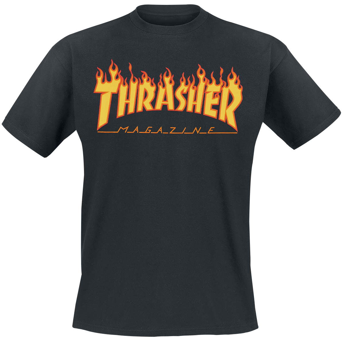 Thrasher - Flame - T-Shirt - black image