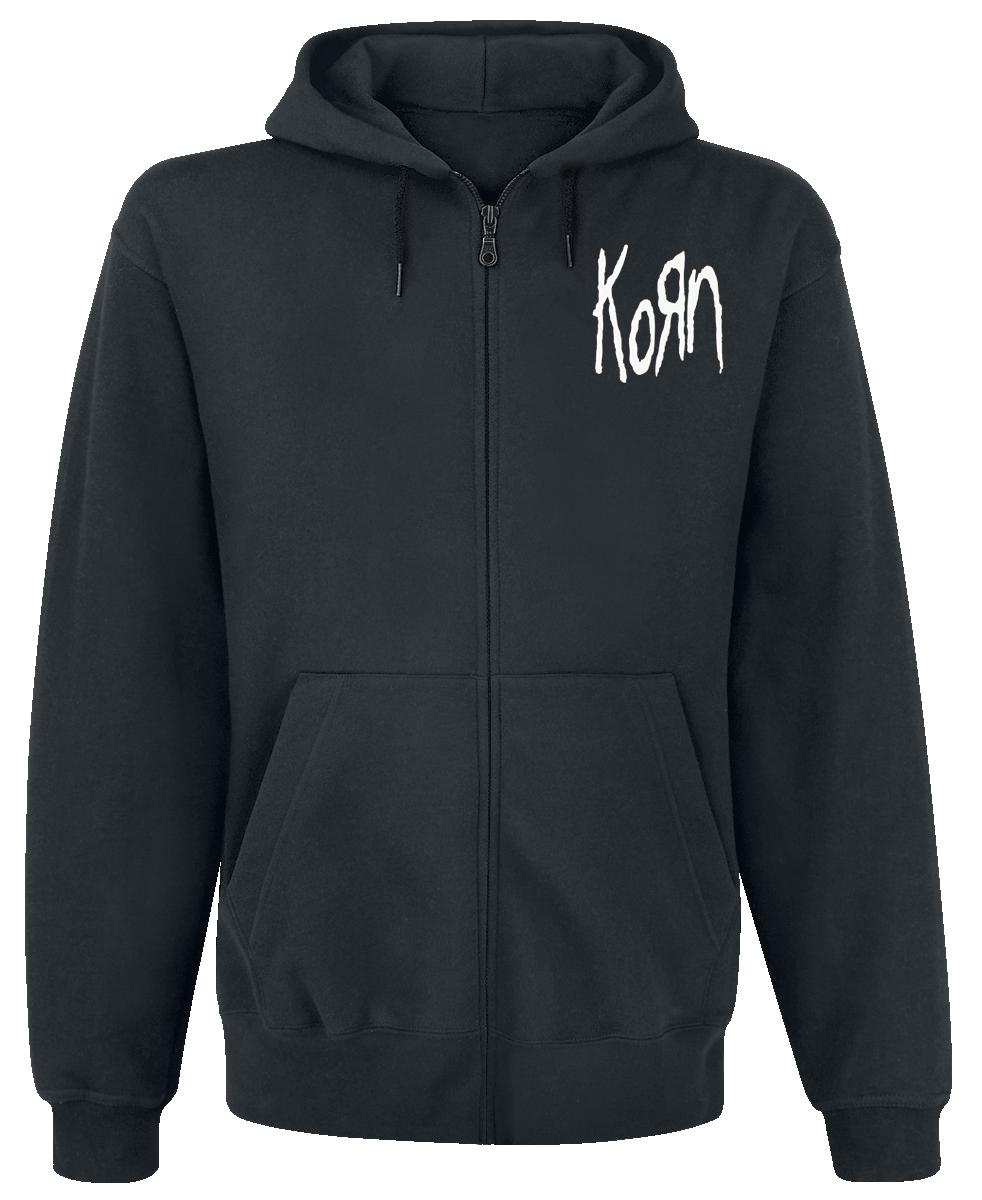 Korn - Mirror Cover - Hooded zip - black image