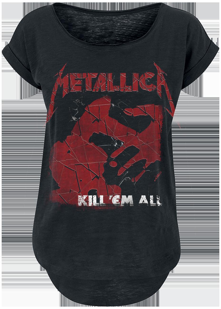 Metallica - Kill 'Em All Shattered - Girls shirt - black image