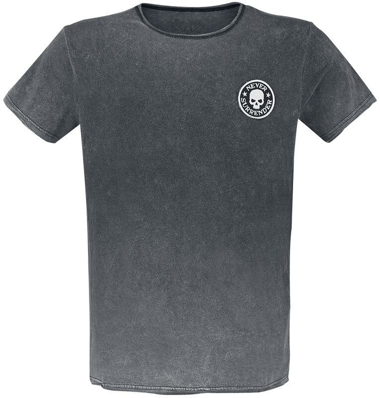 T-Shirt mit Waschung und Patch