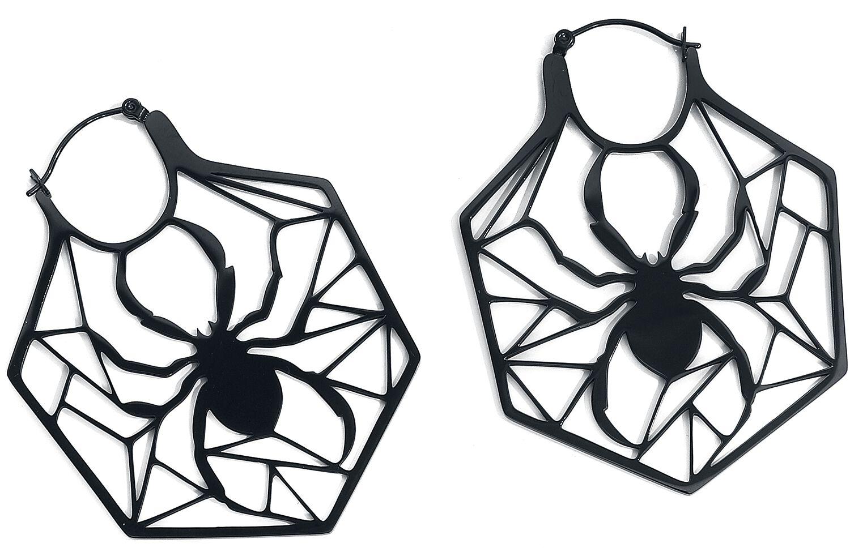 Ohrringe - Wildcat Spiderweb Hoops Ohrring schwarz  - Onlineshop EMP