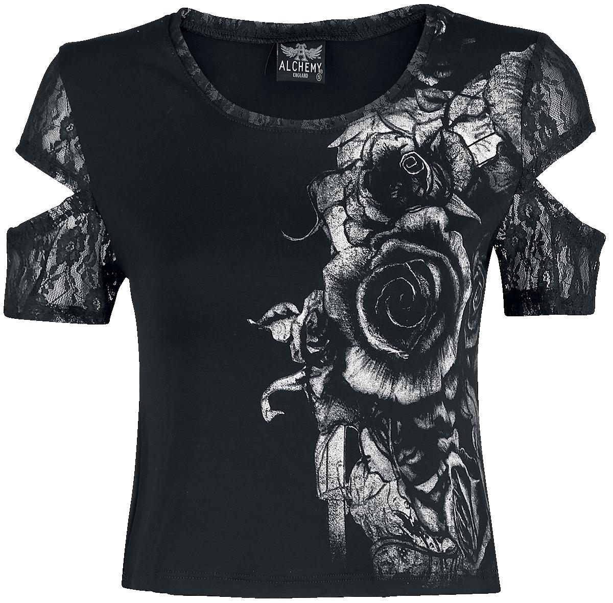 Alchemy England - Dame's Roses - Girls shirt - black image