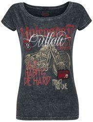 T-Shirt mit Motorrad-Print