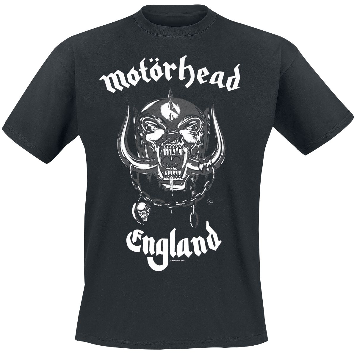 Image of   Motörhead England T-Shirt sort