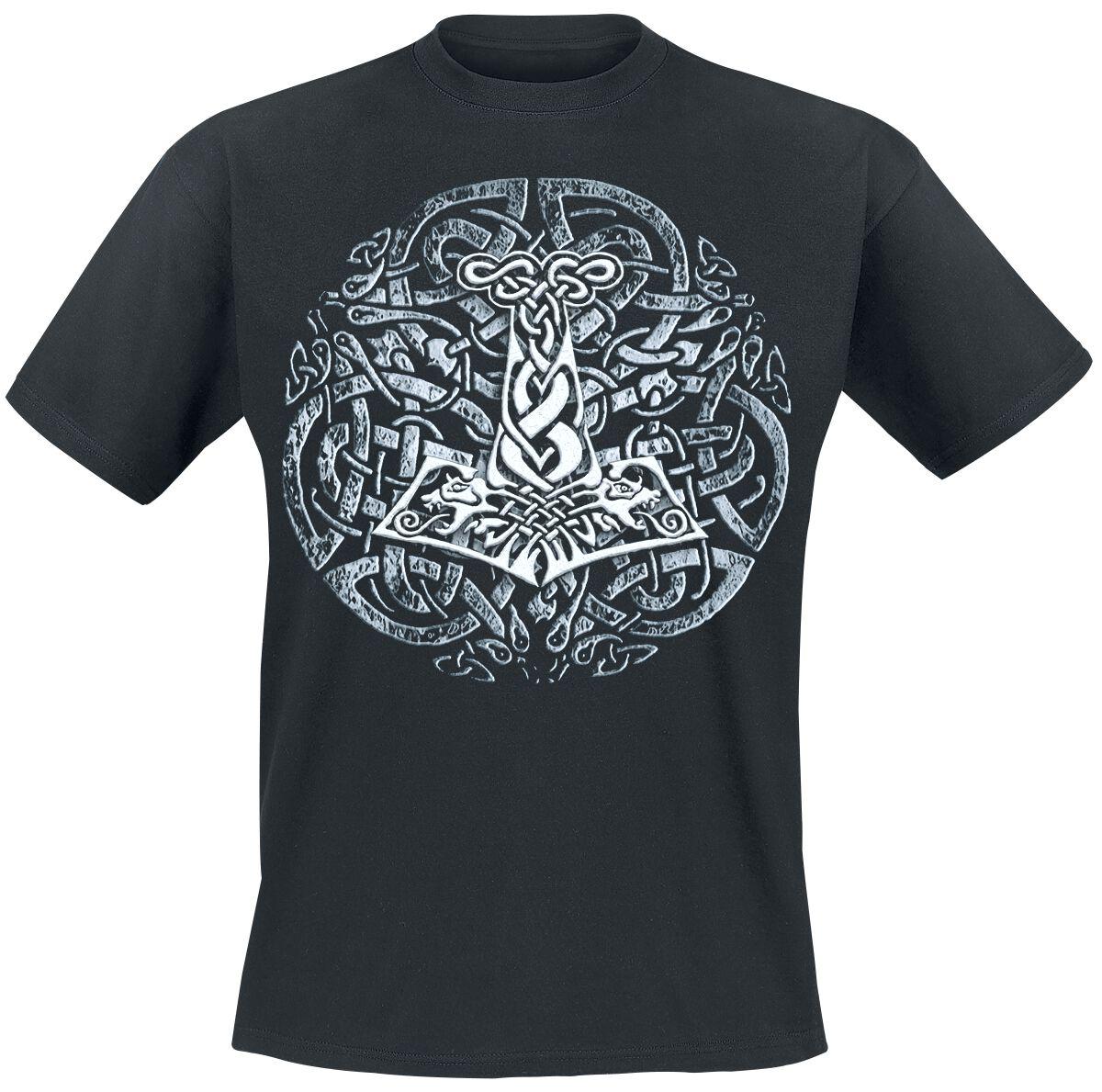 Motyw - Koszulki - T-Shirt Celtic Thorhammer T-Shirt czarny - 123989