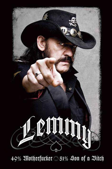 Image of   Motörhead Lemmy Kilmister - 49% Mofo Plakat standard