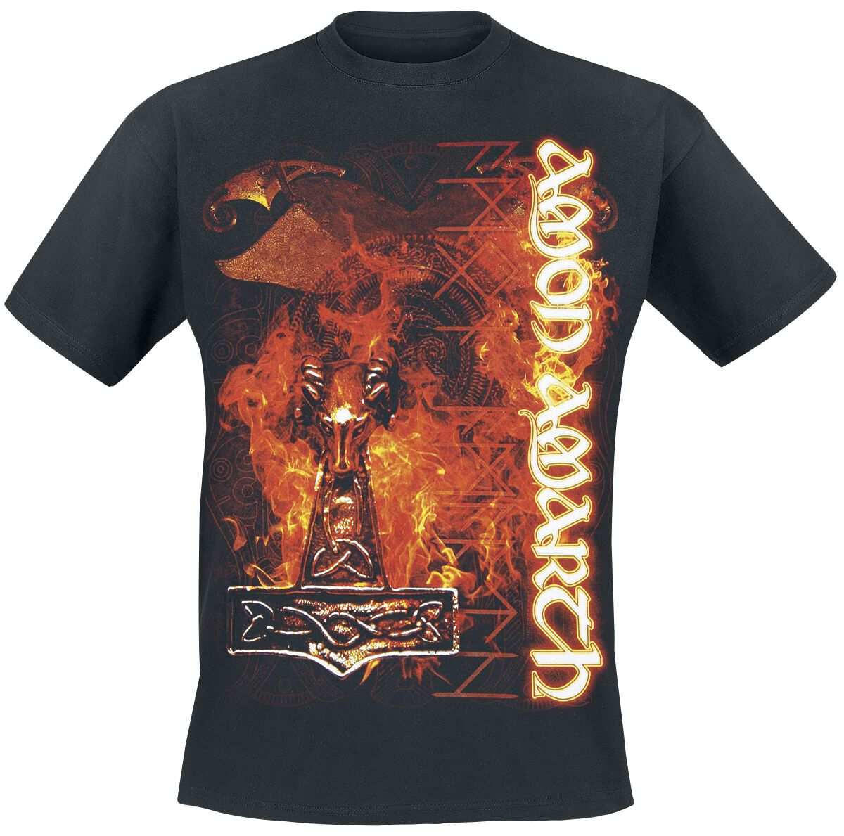 Image of   Amon Amarth Guardian Of Asgaard T-Shirt sort
