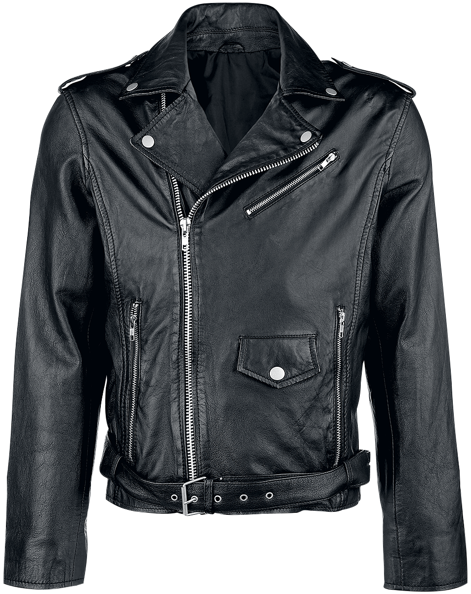 Classic Style - Leather Jacket - Leather jacket - black