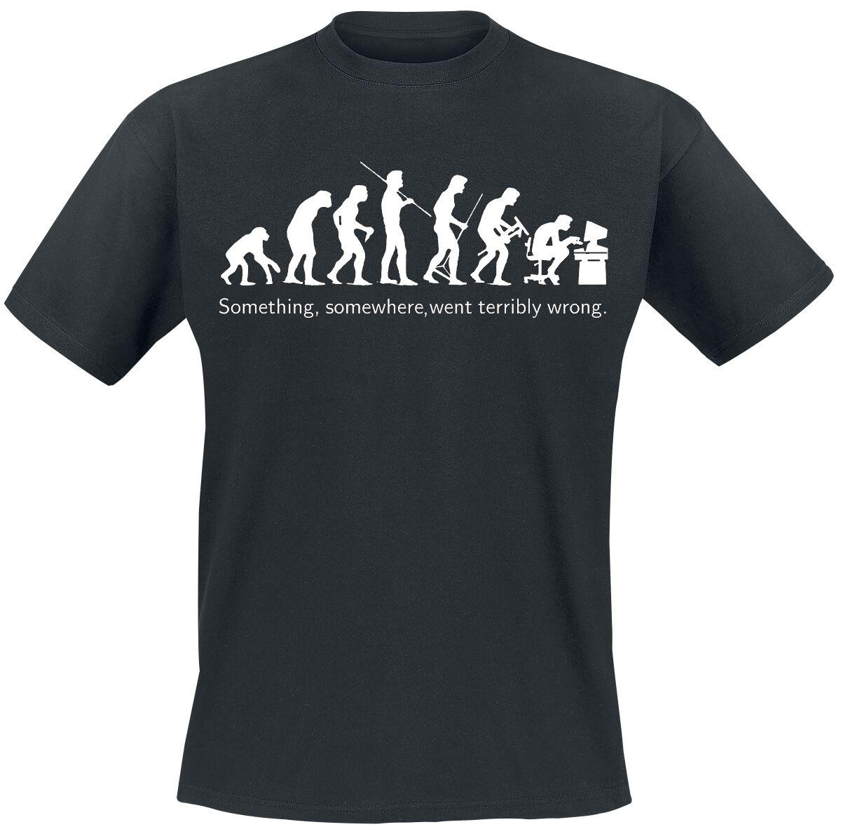 Fun Shirts - Koszulki - T-Shirt Evolution T-Shirt czarny - 141582