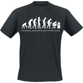 Evolution T-shirt noir
