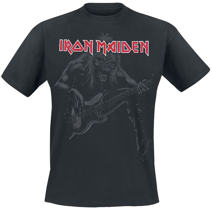 Image of   Iron Maiden Eddie Bass T-Shirt sort