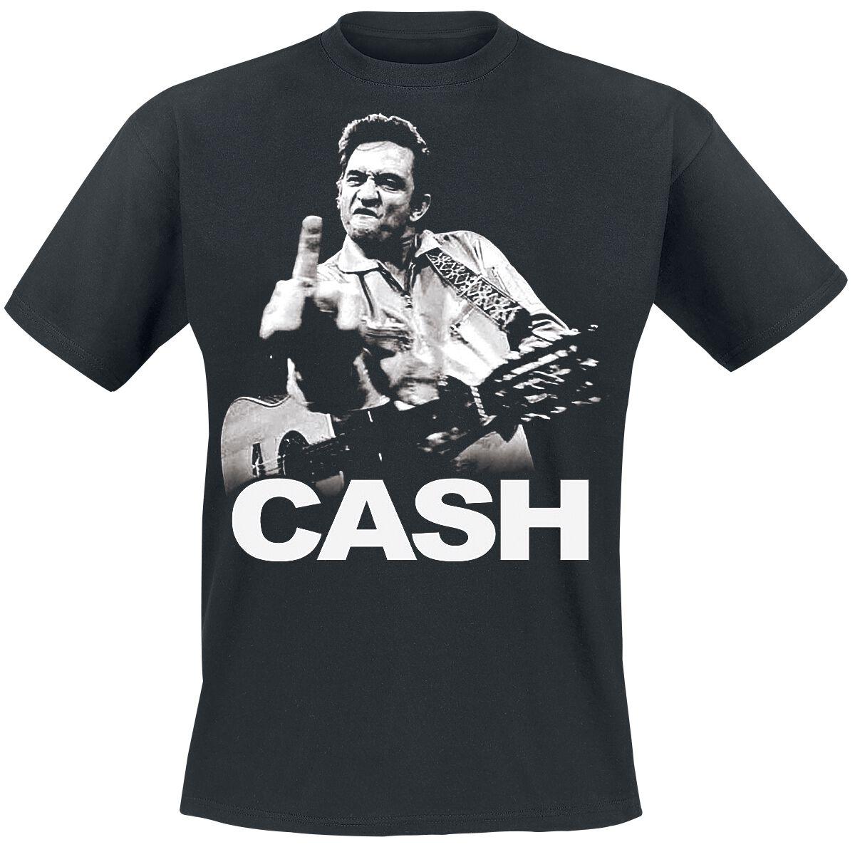 Johnny Cash Flippin T-Shirt schwarz