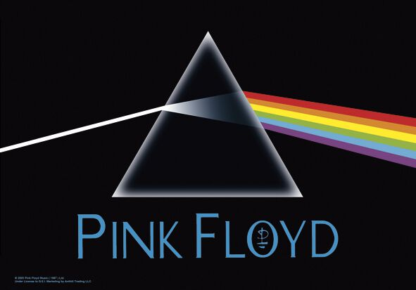 Pink Floyd Dark Side Of The Moon Flagge Mehrfarbig
