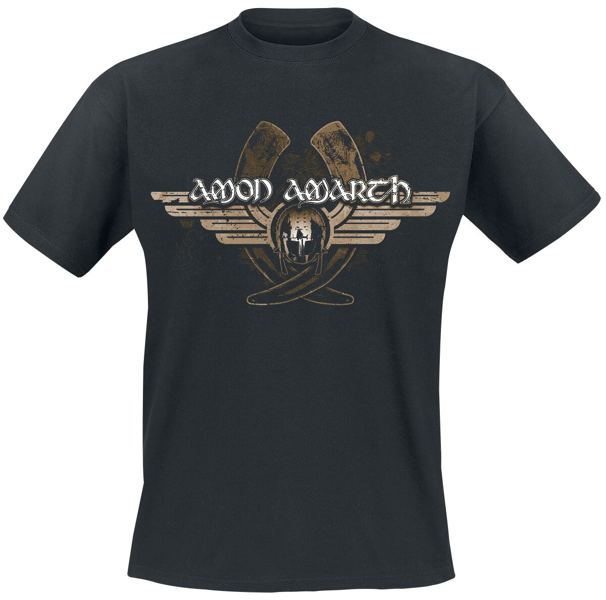 Image of   Amon Amarth Horns T-Shirt sort