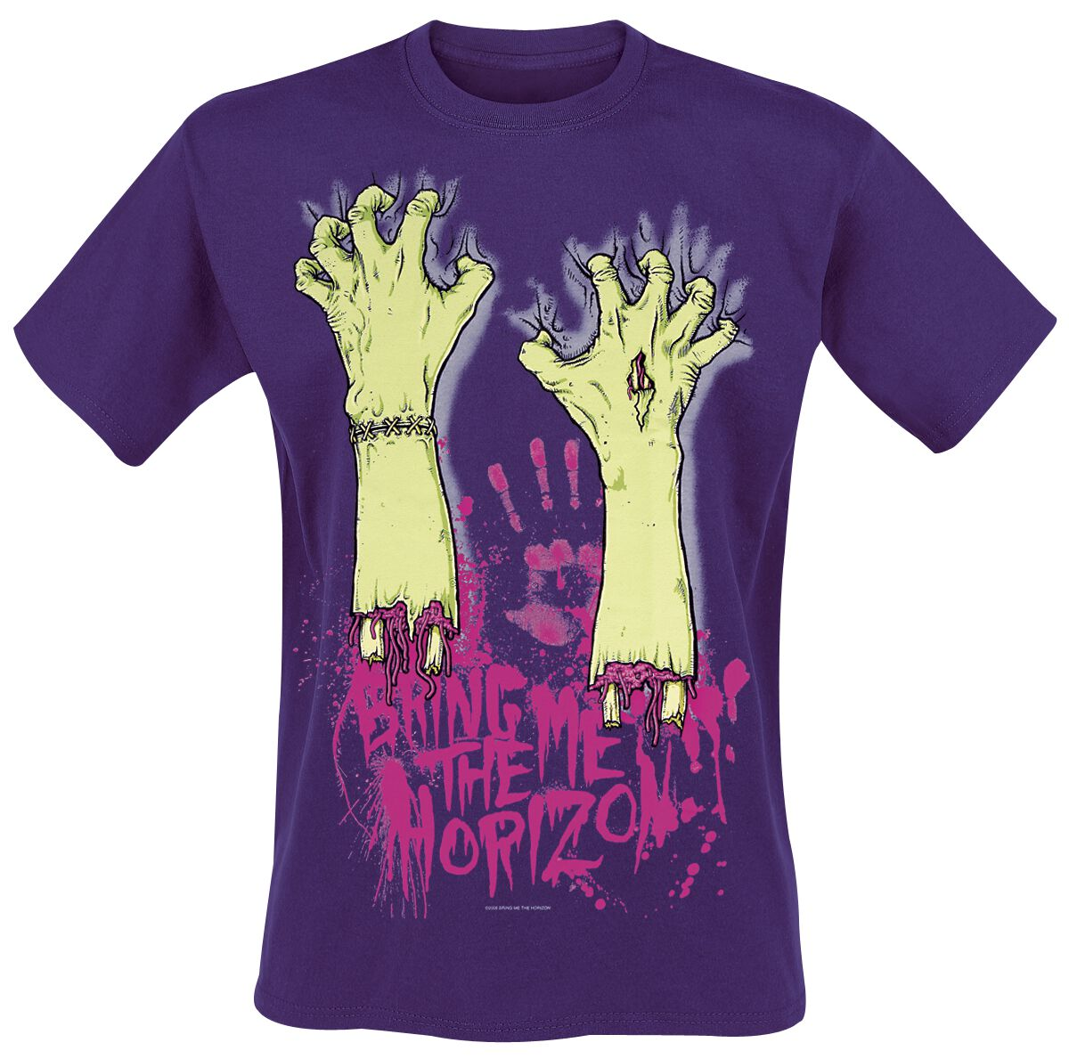 Image of   Bring Me The Horizon Severed Hands T-Shirt lilla