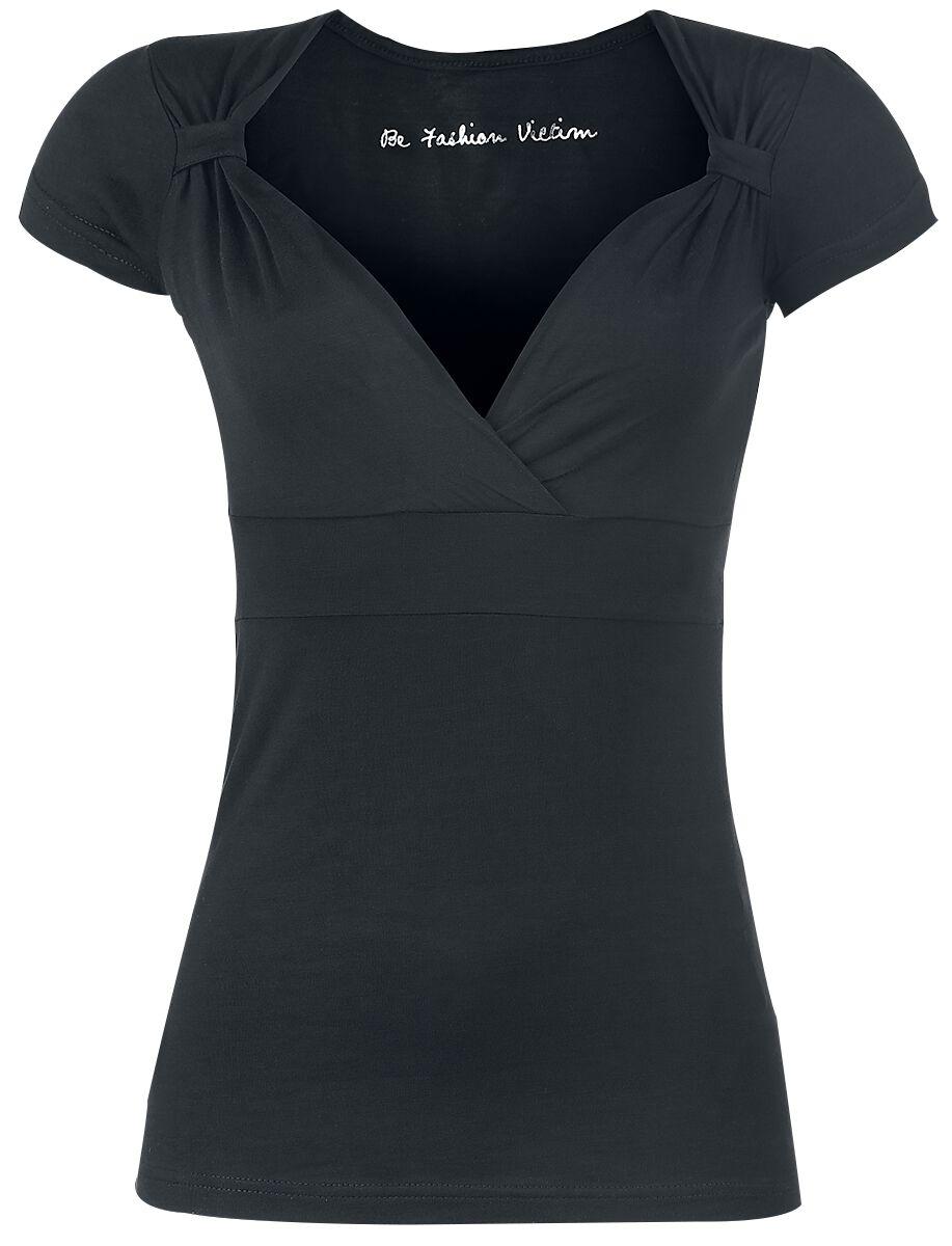 Image of   Fashion Victim Fashion V-Top Girlie trøje sort