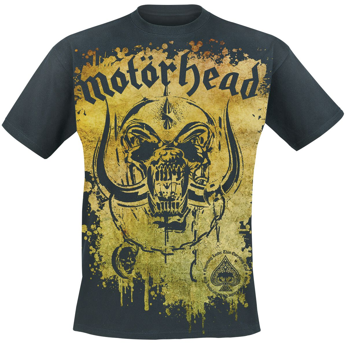 Image of   Motörhead Acid Splatter T-Shirt sort