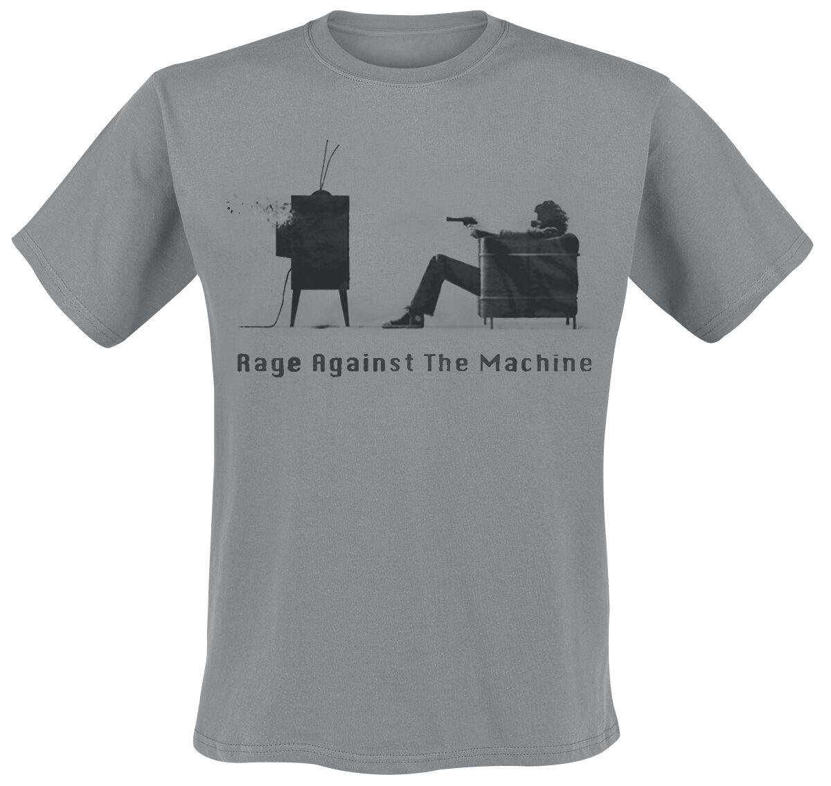 Zespoły - Koszulki - T-Shirt Rage Against The Machine Fuck You Won't Do What You Tell Me T-Shirt szary - 174620