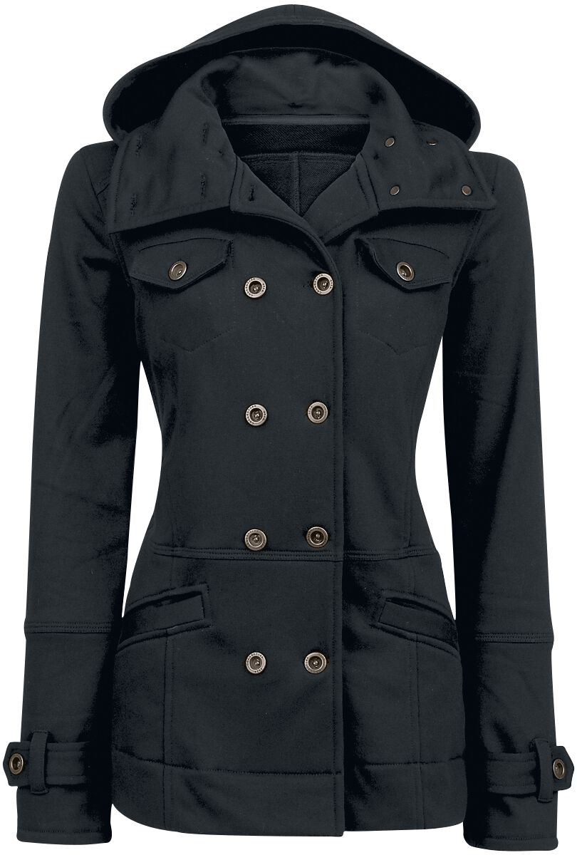Image of   Forplay Cushy Coat Girlie jakke sort