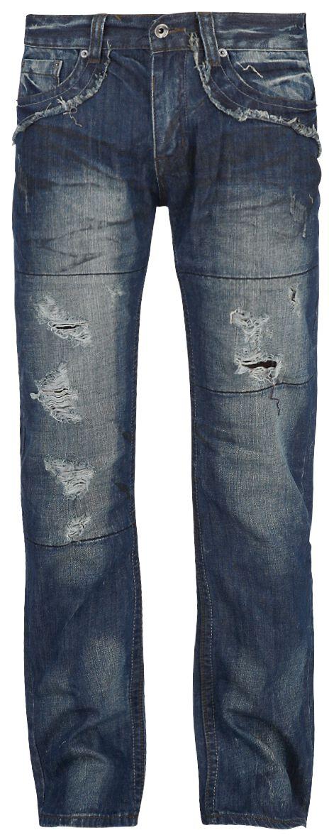 Image of   Forplay Salomon Jeans mørk blå