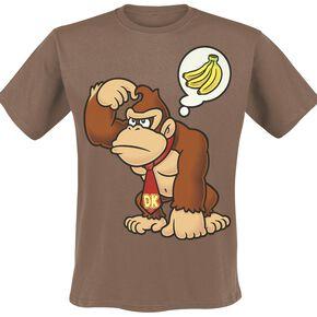Super Mario Donkey Kong T-shirt marron