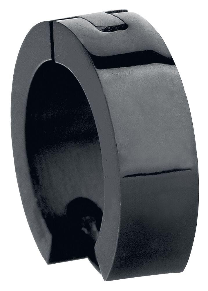 Ohrringe für Frauen - Edelstahl Creolen Ohrring Set schwarz  - Onlineshop EMP