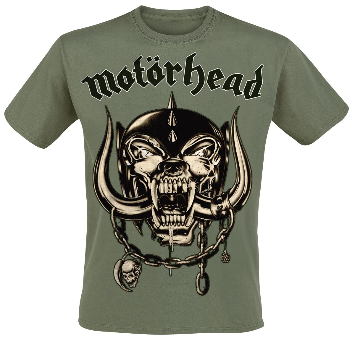 Image of   Motörhead Army Green Warpig T-Shirt olivengrøn