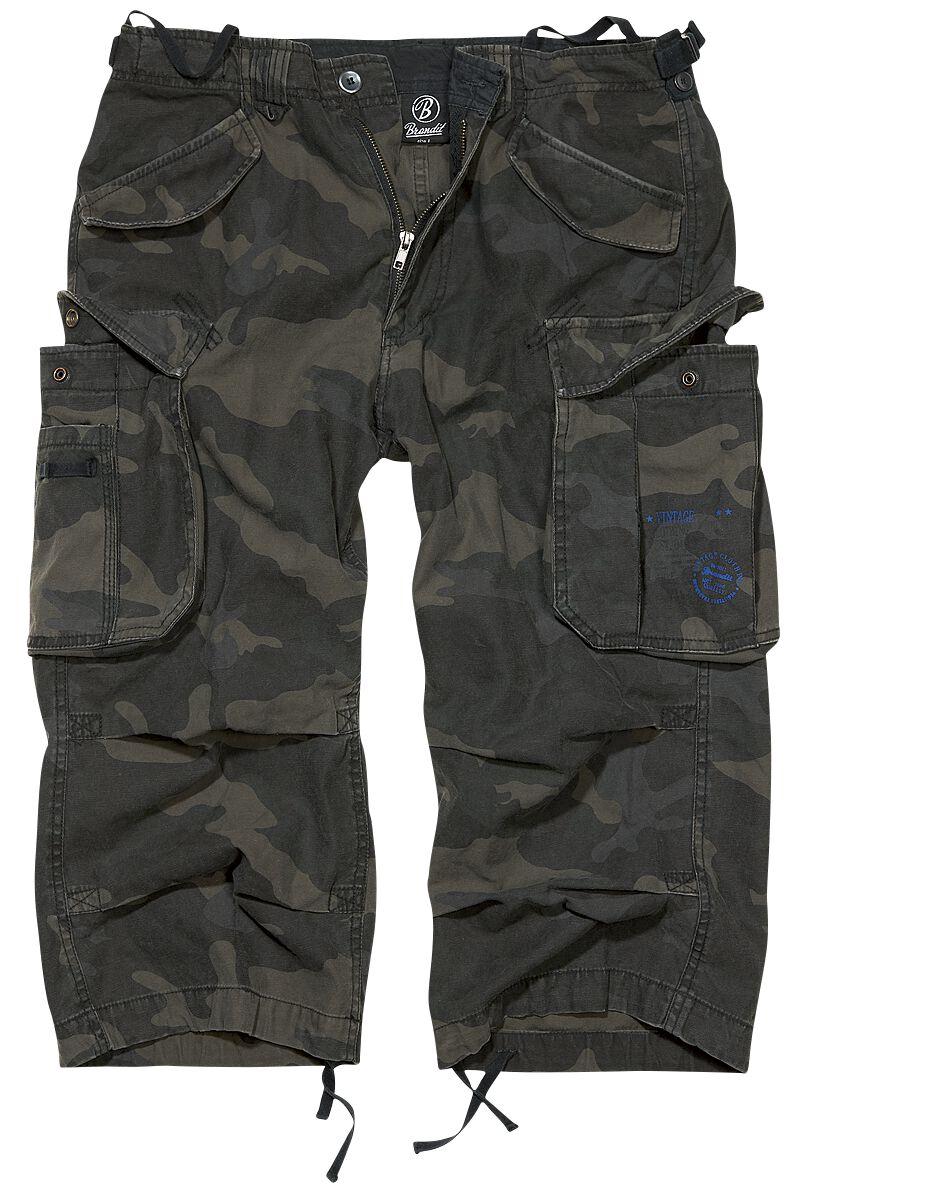 Image of   Brandit Industry Vintage 3/4 Vintage shorts mørk camo
