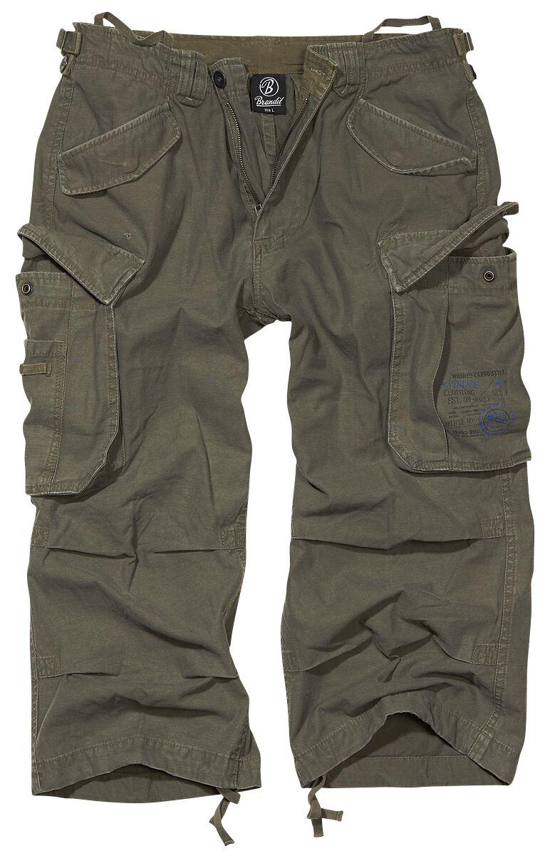 Image of   Brandit Industry Vintage 3/4 Vintage shorts olivengrøn