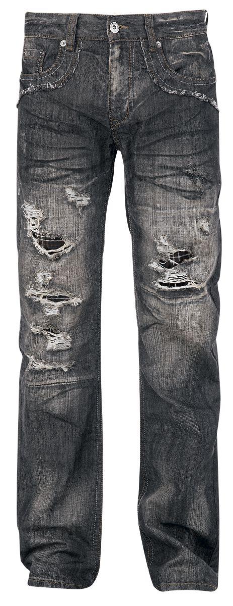 Image of   Forplay Salomon Jeans sort-brugt look