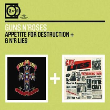 Image of   Guns N' Roses Appetite for destruction / GN'R lies 2-CD standard