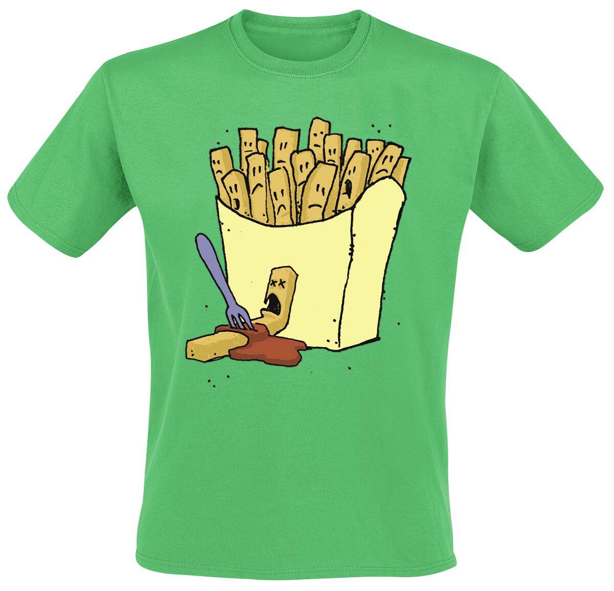 Fun Shirts - Koszulki - T-Shirt Chips Murder T-Shirt zielony - 200884