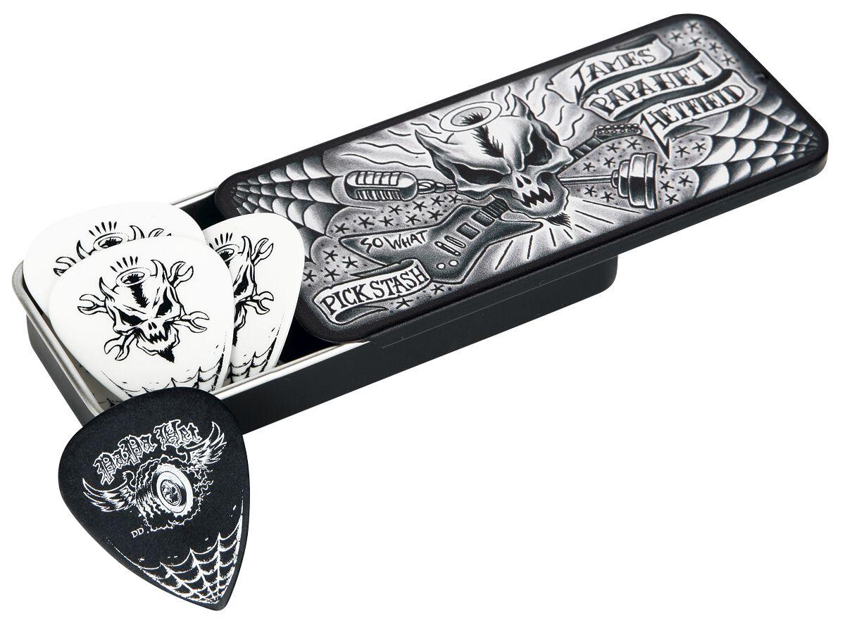 Image of   Metallica Dunlop - James Hetfield PickTin Plekter hvid