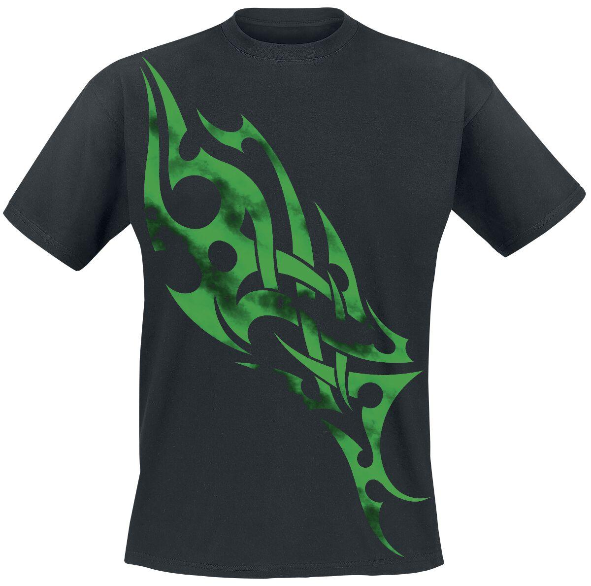 Motyw - Koszulki - T-Shirt Green Smoky Tribal T-Shirt czarny - 202120