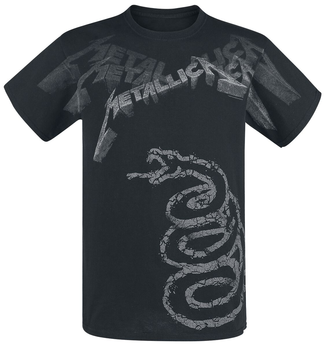 Image of   Metallica Black Album Faded T-Shirt sort