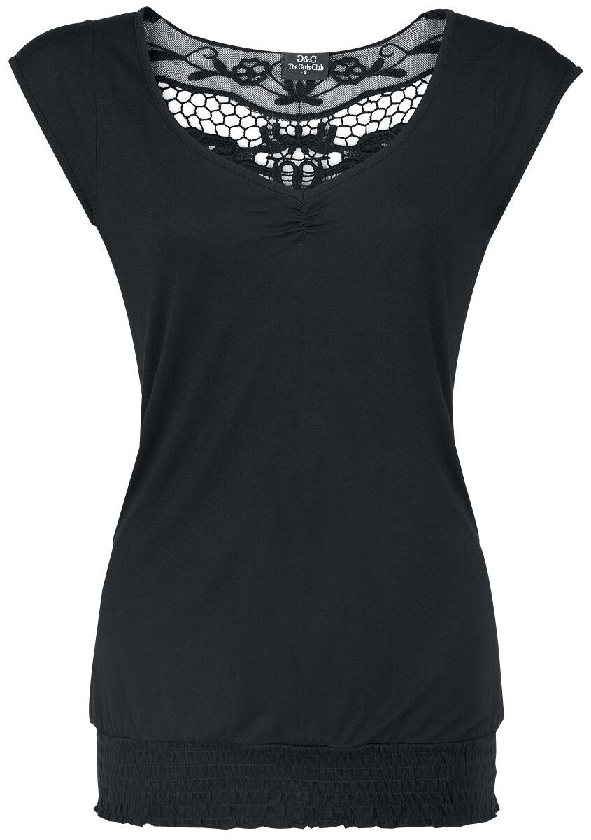 Fashion Victim Backlace Koszulka damska czarny