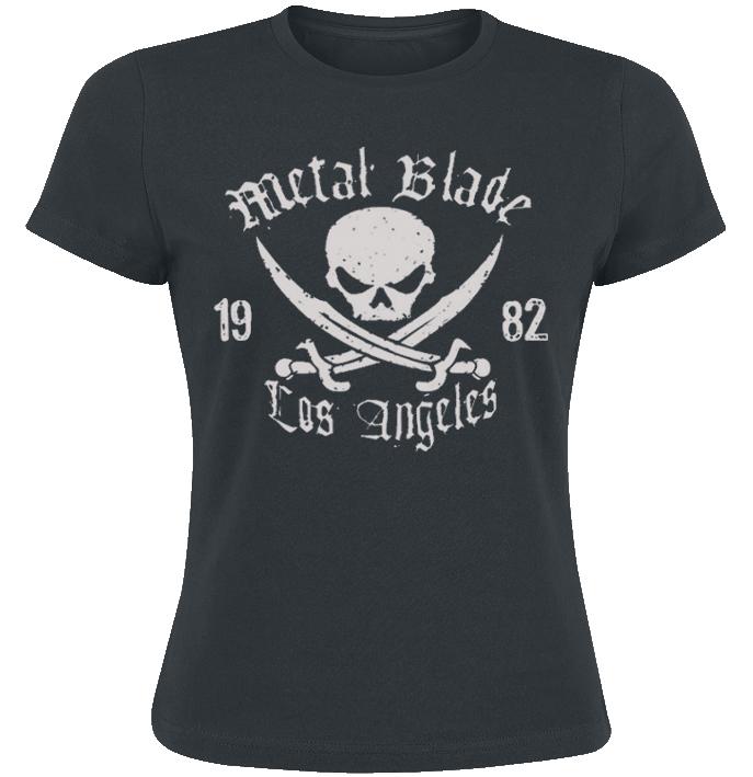Metal Blade Pirate Logo Koszulka damska czarny